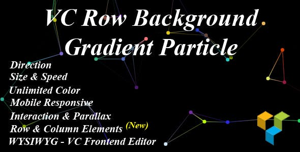 VC Row Background Gradient Particle