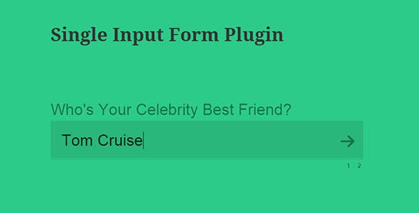 CPS Single Input form