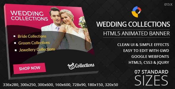 Wedding Collections - HTML5 ad banners - CodeCanyon Item for Sale