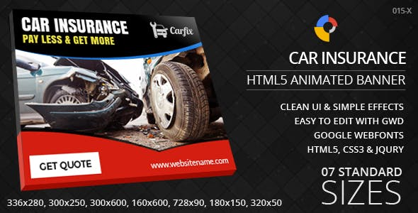 Car Insurance - HTML5 Ad Banners