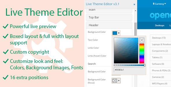Live Theme Editor - CodeCanyon Item for Sale