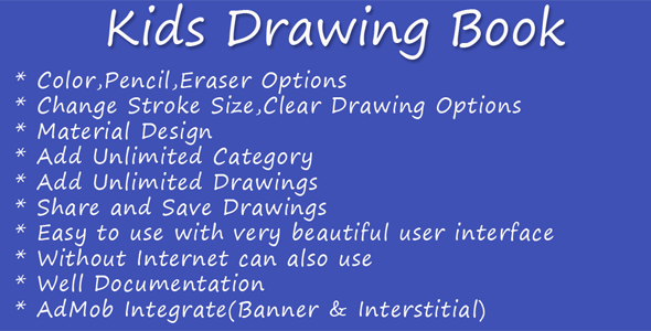 Kids Drawing Book - CodeCanyon Item for Sale