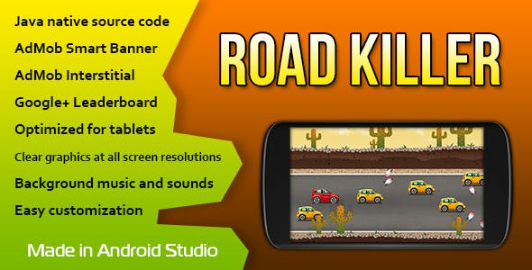Road Killer with AdMob and Leaderboard