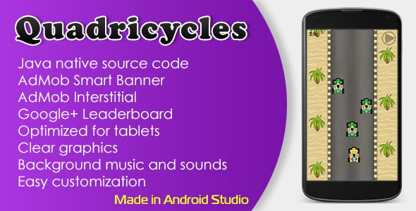 Quadricycles Game with AdMob and Leaderboard - CodeCanyon Item for Sale