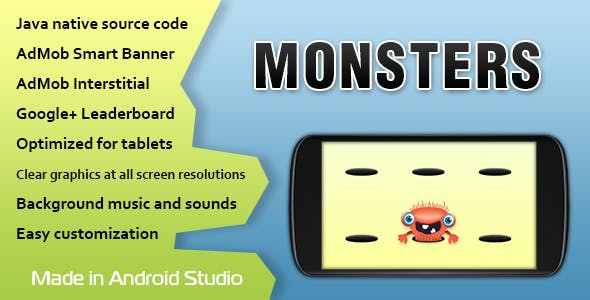 Monsters Game with AdMob and Leaderboard