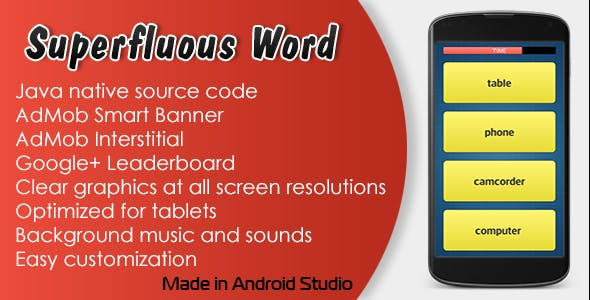 Superfluous Word Game with AdMob and Leaderboard