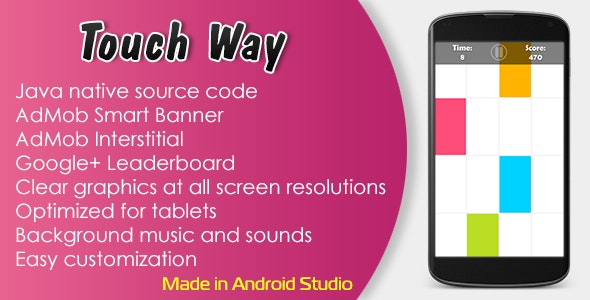 Touch Way with AdMob and Leaderboard - CodeCanyon Item for Sale