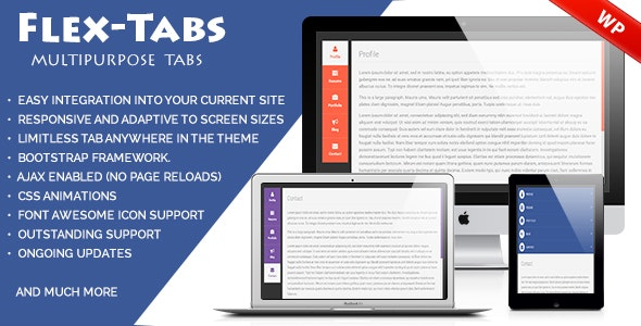 FlexTabs A Responsive Tabs to Accordion Wordpress - CodeCanyon Item for Sale