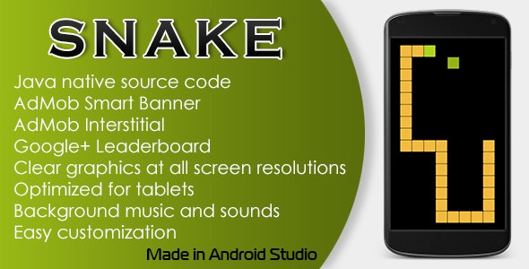 Snake Game with AdMob and Leaderboard - CodeCanyon Item for Sale