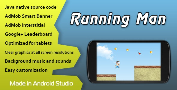 Running Man with AdMob and Leaderboard - CodeCanyon Item for Sale