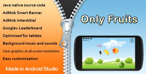 Only Fruits Game with AdMob and Leaderboard - CodeCanyon Item for Sale
