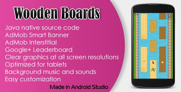 Wooden Boards Game with AdMob and Leaderboard