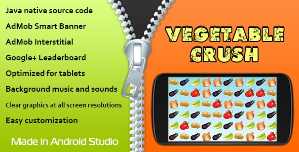 Vegetable Crush with AdMob and Leaderboard - CodeCanyon Item for Sale