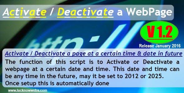 Activate/Deactivate a Webpage