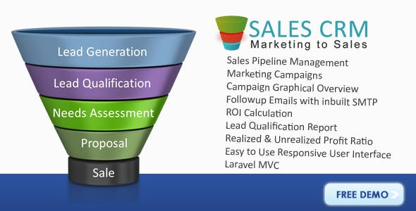 Sales CRM Marketing & Sales Management Software - CodeCanyon Item for Sale