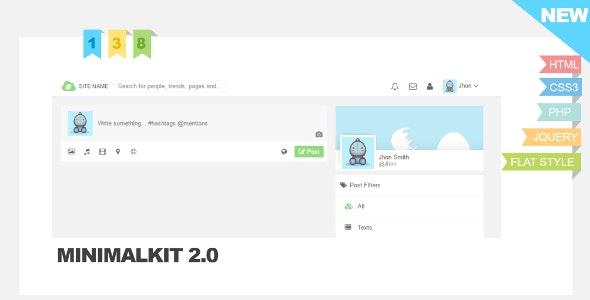 MinimalKit v1.0 Socialkit Theme - CodeCanyon Item for Sale