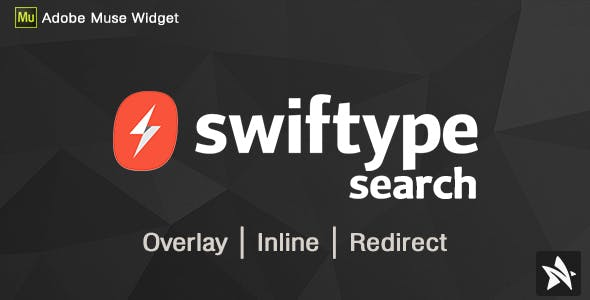 Swiftype Search Widgets for Adobe Muse