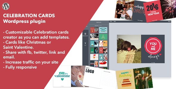 Celebration Cards - Wordpress Plugin (former Christmas Cards) - CodeCanyon Item for Sale
