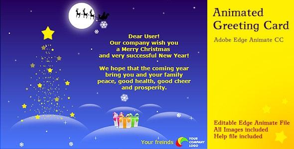 Animated Christmas Card - CodeCanyon Item for Sale