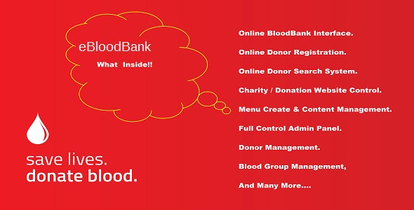 eBlood - Online BloodBank & Donor Management System