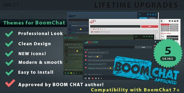 Themes for BoomChat 7+  Professional Skin Packs (5 skins)