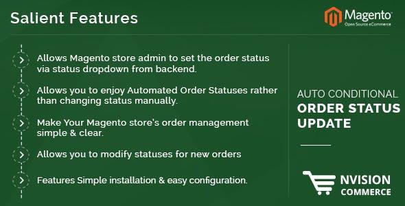 Auto Conditional Order Status Update in Magento