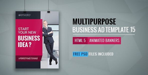 Business | HTML5 Google Banner Ad 15