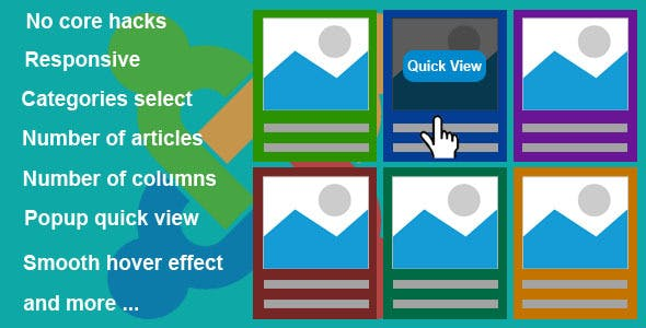 Responsive Grid Quick View Articles for Joomla