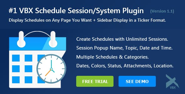 VBX Schedule System Plugin for Wordpress