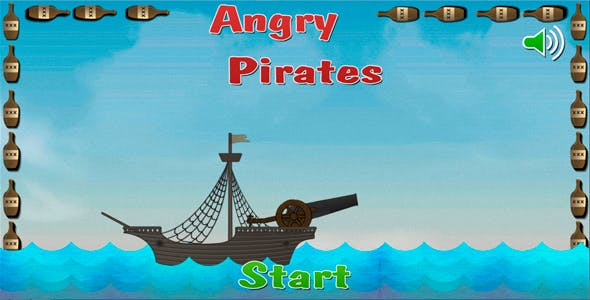 Angry Pirates - HTML5 Mobile Game