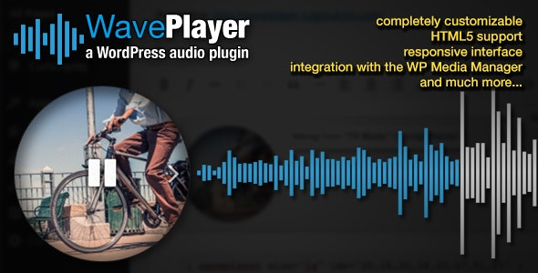WavePlayer - WordPress Audio Player with Waveform and Playlist - CodeCanyon Item for Sale