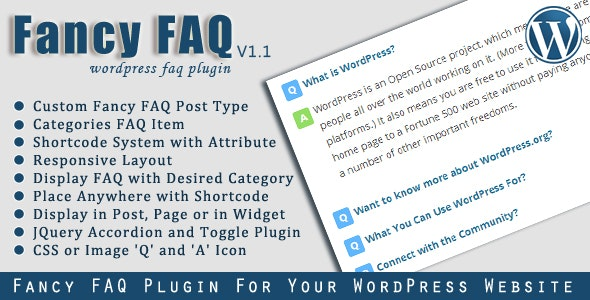 Fancy FAQ - WordPress FAQ Plugin - CodeCanyon Item for Sale
