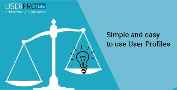 UserPro Lite - CodeCanyon Item for Sale
