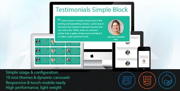 Drupal Testimonials Simple Block