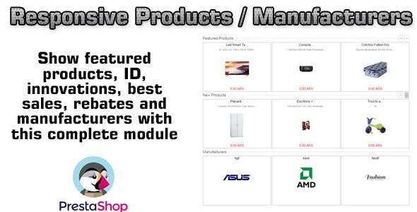 Prestashop Responsive Products / Manufacturers