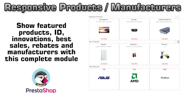 Prestashop Responsive Products / Manufacturers - CodeCanyon Item for Sale