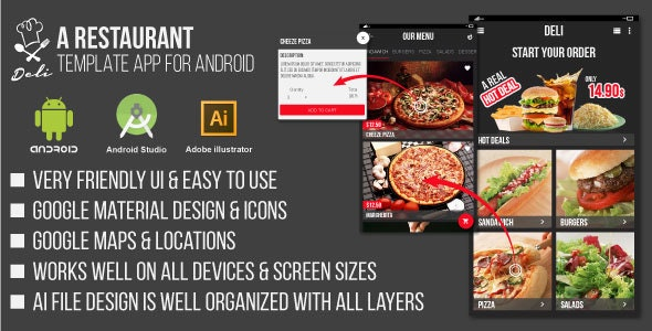 Deli - Restaurant UI Template App for Android - CodeCanyon Item for Sale