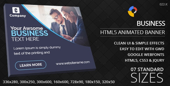 Business - HTML5 ad banners - CodeCanyon Item for Sale