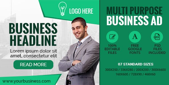 GWD | Multipurpose Business Banner - 7 Sizes
