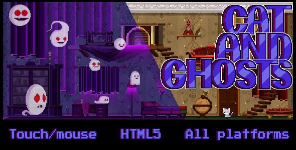 Cat and Ghosts - HTML 5 Game