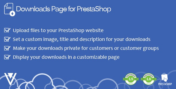 Downloads Page for PrestaShop - CodeCanyon Item for Sale