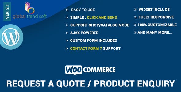 WooCommerce - Quote Request or Enquiry        Nulled