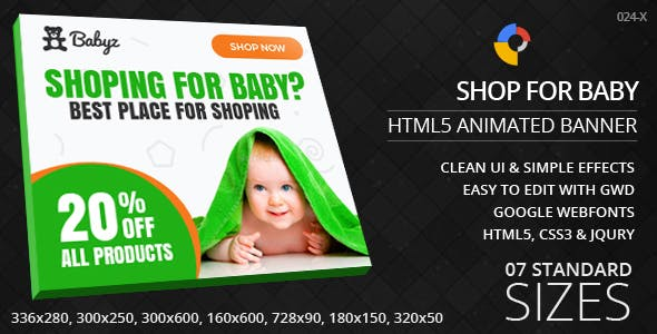 Baby Shopping - HTML5 ad banners