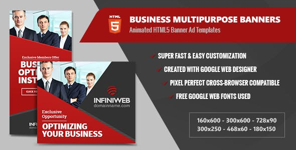 Business Banners Multipurpose - HTML5 Animated GWD
