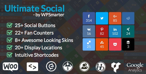 Ultimate Social - Easy Social Share Buttons and Fan Counters for WordPress - CodeCanyon Item for Sale