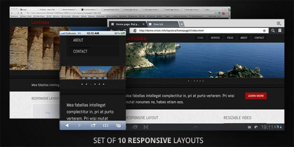 10 Responsive All Devices Layouts. Set. HTML5.          Nulled