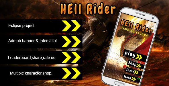 Hell Rider - Admob Multiple character Leadeboard