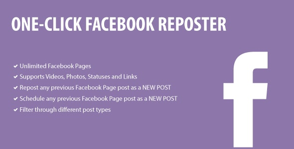1-Click Facebook Reposter - CodeCanyon Item for Sale