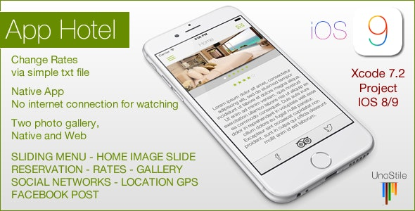Hotel IOS Template - CodeCanyon Item for Sale