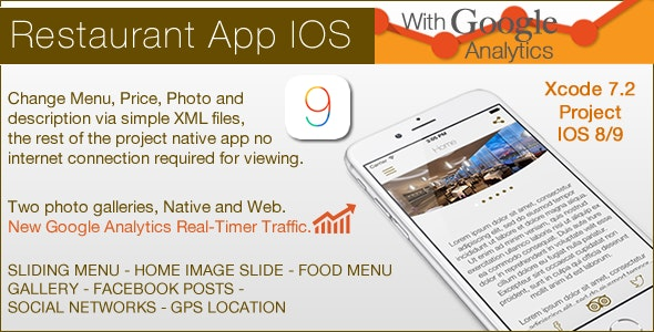 Restaurant IOS Template - CodeCanyon Item for Sale